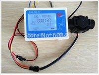 "Wholesale Digital Counter Sensor - Wholesale-Hall effect G 1"" water Flow Counter Sensor with Digital LCD Meter Gauge 24V"