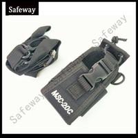 naylon taşıma çantası toptan satış-MSC-20C Naylon Radyo Motorola GP328 Için Taşıma çantası Tutucu / GP338 + BaoFeng GT-3 UV-5R UV-5RA BF-F8HP UV-82 BF-888S WouXun KG-UV8D