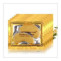 augenpflege falten großhandel-Neue PILATEN Augenmasken Kollagen Kristall Gold Pulver Kristall Augenmaske Hautpflege Dunkle Anti-Falten-Feuchtigkeit Augenpflege