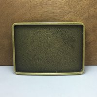 Wholesale diy belt buckles - BuckleHome rectangle blank DIY belt buckle with antique brass finish FP-03429-1 with continous stock free shipping