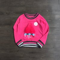 Muster Für Tops Kaufen -Neue Kinder Pullover Winter Frühling Baby Kinder Trolle Top 3D Troll Muster Pullover Top Mit Samt Rose Farbe