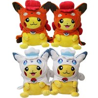 Hot Sale 30cm Anime Cartoon Pocket Monster Pikachu Cosplay Vulpix Peluches Jouets Soft Stuffed Dolls Wholesale