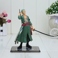Wholesale Japanese Model Dolls - 15cm One Piece Japanese Anime Cartoon Two Years Later Roronoa Zoro Action Figures PVC Toy Doll Model