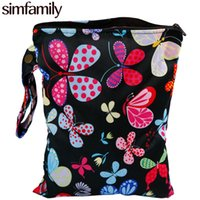 """Wholesale Wholesale Cloth Pocket Diapers - Wholesale-[simfamily]1PC Reusable Waterproof Printed PUL Diaper Small Wet Bag Single Pocket,Cloth Handle,7.5""""x10"""" Wholesale Selling"""