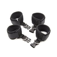 Erotic Bondage Restraints Adult Sex Products Sexy Sponge Hand Cuffs + Ankle Cuffs Release Buckle flirting toys Adult Sex Toys For Couples