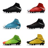 Wholesale Cheap Silver Boots - 2017 Cheap High Quality Hypervenom Phantom DF FG Men's Soccer Shoe boots Free Shipping Mens Hypervenom 3 cleats soccer football shoes online