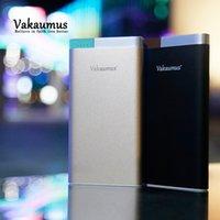 Wholesale External Battery 2a - Vakaumus V60 Ultrathin Polymer Power bank 10000mAh Slim Metal Alloy Portable Charger DC5V 2A Fast Charging External Rechargeable Batteries