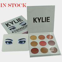 Wholesale Eyeshadow Palette Fashion Cosmetics - Fashion Kyshadow Kit Kylie Jenner Pressed Powder Eye Shadow Palette Kylie Cosmetics the Bronze Palette Waterproof Eyeshadow 9 colors set