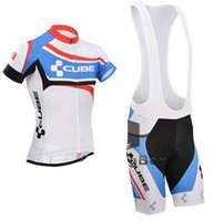 Wholesale Cube Cycling Set - 4 styles for choose Cube Team Cycling Jersey bike shorts set Bike Wear team jersey Short sleeve cycling shorts suit #wk25