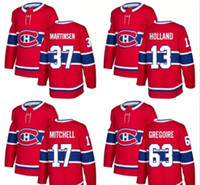 Wholesale New Holland Stopping - Men Montreal Canadiens 2018 2017 New Brand 37 Andreas Martinsen 13 Peter Holland Torrey Mitchell Jeremy Gregoire Red Custom Hockey Jerseys