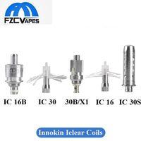 bobinas 16d iclear al por mayor-Auténtico Innokin Iclear 16 16B 16D 30 30B 30S X1 Reemplazo de la bobina BDC Coil Head 1.5 1.8 2.1ohm 100% Original
