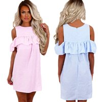 New Style Fashion Women Casual Dress Summer Robes sans manches Plus Size Cheap China Dress Femme Vêtements Mode
