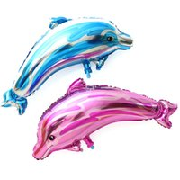 Wholesale Large Inflatable Toys - Large Dolphin Balloons Aluminum Foil Inflatable Helium Balloon Children Toys Classic Wedding Birthday Christmas Party Decorations Supplies