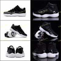 Wholesale Tables 72 - 2017 High Top Quality Retro 11 72-10 Low Basketball Shoes Men Women XI 11s 72-10 Black White Red Sports Sneakers New Arrived US 5.5-13