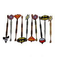 Wholesale dab tools sale for sale - Group buy Hot Sale Wax Dabber tool with Pokeball Batman Captain superhero Flash and Skull Design stickers wax jar Dab tool colors mm free ship
