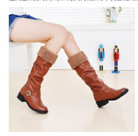 Wholesale Lowest Prices Name Brands - wholesaler free shipping factory price hot seller brand name can turn down women fashion sexy long boot Knight boots scooterWarm boots