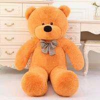 teddybär verkaufen großhandel-Heißer Verkauf 80cm 100cm 120cm 140cm 160cm 180cm 200CM TEDDY BEAR RIESIGES WEICHES SPIELZEUG Plüschtiere Valentinstaggeschenk