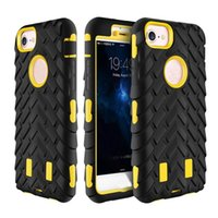 Wholesale 5c back case for sale – best 2017 Newest Robot Tire Grain In Cases TPU Hybrid PC Back Cover for iPhone S Plus c S5 Dual Layer Fashion Protector