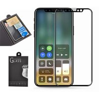 Wholesale Transparent Film Glass - For iphone x Tempered Glass 2 PCS 2.5D 9H Premium Full Cover Screen Protector Clear Transparent Film Anti-shatter