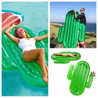 180X140x20cm Flotteur gonflable Cactus Pool Floats Grande piscine extérieure Raft gonflable Pool Toy Float Lounge Pour adultes Enfants YYA225