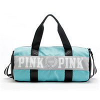 overnight tote bags - fashion girl Stripe Duffle Bag pink Victoria beach shoulder bag large capacity secret Overnight Weekender bag