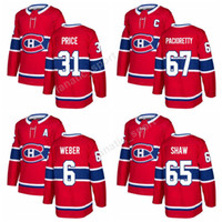 Wholesale Max Prices - 2017-2018 New 67 Max Pacioretty Jersey 31 Carey Price 6 Shea Weber 65 Andrew Shaw Montreal Canadiens Ice Hockey Jerseys 14 Tomas Plekanec