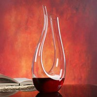 Wholesale Red Glass Jug - 1500ML Big Decanter Handmade Crystal Red Wine Brandy Champagne Glasses decanter Bottle Jug Pourer For Family Bar Birthday Gift