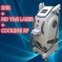 Wholesale Side Tattoos - SHR machine nd yag q-switch laser tattoo removal laser machines Painless No Side Effects For Pernament Hair Removal rf for facial Machine
