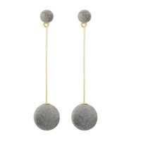 New Punk Long Or-Chaussures en chaîne de couleur Black Grey Ball Ball Party Drop Earrings For Women Accessoires