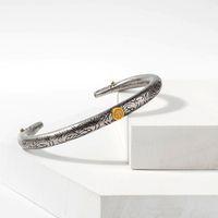 Wholesale Men Bracelet Silver Engraved - Indian style retro cuff bracelet men and women fashion popular Engraved eagle's pattern bracelet jewelry accessories