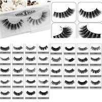 Wholesale Individual Eyelashes Extensions - Hot 3D Mink Hair 3D Mink Eyelashes Hair Fur Eyelashes Messy Eye lash Extension Sexy Eyelash Full Strip Eye Lashes DHL
