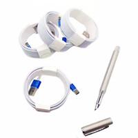iphone 1m beyaz toptan satış-Beyaz Drop Shipping DHL Ücretsiz 3 M 10FT 2 M 6FT 1 M 3FT Mikro USB Metal Kafa Örgülü Veri Şarj Kablosu Şarj Kablosu Renk Değiştirme
