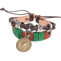 Wholesale British Charm Bracelet - Explosion of the British royal family queen jewelry ancient coins bracelet bracelet