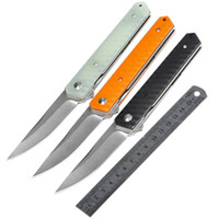 Wholesale japanese utility knives - Japanese Tactical Folding Knife 8Cr13Mov Blade G10 Handle Outdoor Camping Hunting Survival Pocket Knife Clip Utility EDC Tools Collection