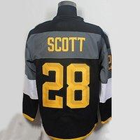 Wholesale Scott Yellow Jersey - #28 John Scott Jersey, 2016 All Star #19 Jonathan Toews Men's 100% Stitched Embroidery Logos Blank Hockey Jersey Black White With C Patch