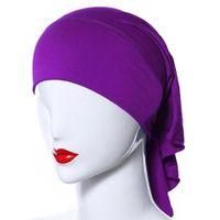Wholesale Islamic Women Hat - Wholesale-Muslim Women Soft Comfortable Inner Hijab Caps Islamic Underscarf Hats