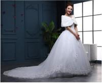 Wholesale Cheongsam Shawls - 2017 new bride wedding shawl for wedding dresses winter wedding cheongsam jacket bridesmaid wraps thickening warmth