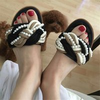 Wholesale Outfit Shoes Women - Zapatos Mujer 2017 New Arrival Women Summer Slippers Fashion Pearl & Microfiber Outfit Flats Causual Shoes Gladiator Shoes Women