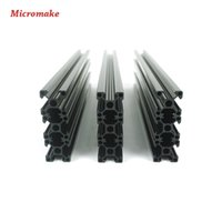 Peças da impressora 3D Freeshipping V-slot Rail Aluminium Profile Extrusion 2020 12pcs / lot Cutted CNC Machine Building Part Holder