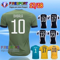 Wholesale Thailand Quality Soccer Jerseys - Thailand quality New 17 18 home Away Third blue Camisetas De foot Yellow Soccer jersey 2017 MARCHISIO ZAZA DYBALA HIGUAIN Football shirt