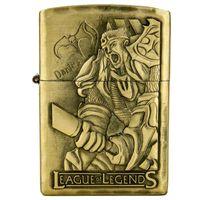 Wholesale Lol Lighter - Wholesale-LOL heroes union boutique relief kerosene creative metal lighter 18 pattern optional for retails