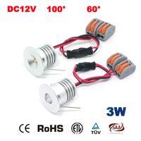 Wholesale Spot 12v Switch - Wholesale- 20PCS 3W 23mm 240Lm 12V 24V LED Downlight CE RoHS Mini Spot Lamp Home Interior Decoration Lighting Room 3 Year Warranty