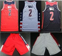 Wholesale 2017 New Season John Wall Home Road Alternate Jerseys Swingman Edition Stitched White Red Blue Jerseys For Sale Basketball Shorts