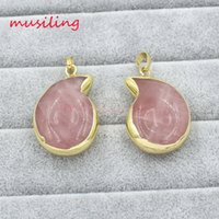 Wholesale Spiral Charm Necklace - musiling Jewelry Necklaces & Pendants Spiral Shape Stone Pendant Necklace Chain Gold Plated Charms Pendants Fashion Women Mens Jewelry