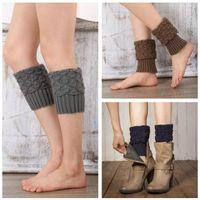 Wholesale Leg Warmer Boot Socks Gray - Women Winter Leg Warmer Knitted Boot Cuffs Crochet Boot Socks Winter Fashion Accessries Textured Stretchy Boot Socks