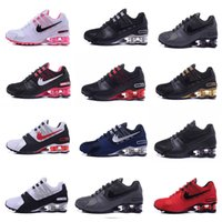 Wholesale Sports Current - 2017 SHOX Avenue 802 Current Air Cushion Running Shoes Men women Original White Gold Black Shox NZ Mens Trainers Sneakers Sport Shox Shoes