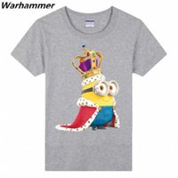 Wholesale Tee Shirt Minions - Funny Minions Banana T shirt Men Lovely 3D Printed Brand Cotton Pattern O-neck Short Sleeved Men T shirts Fashion Minions Customized DIY Tee