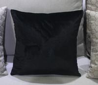 klasik yastık kılıfları toptan satış-Klasik marka desen C yastık örtüsü olmadan 45x45 cm yastık sahte Taklidi lüks moda tasarım logo yastık kılıfı