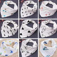 Wholesale babies bath towels - INS 12styles 4 layers baby bibs 100% cotton Lunch Bibs Towel Saliva Baby Kids Infants milk print letter gauze washed water bath towel