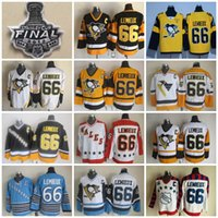 Wholesale Vintage Patches - 2017 Stanley Cup Throwback Pittsburgh Penguins 66 Mario Lemieux Jerseys Men 1992 Wales 1986 Wales All Star CCM Vintage Hockey Jersey C Patch